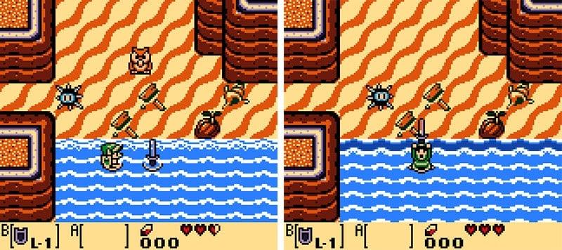 Encontro de Link com a Coruja e a recuperação de sua espada.