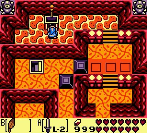 Imagem do Link coletando uma chave no baú de uma masmorra.