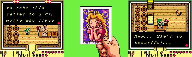 Princesa Peach no jogo.