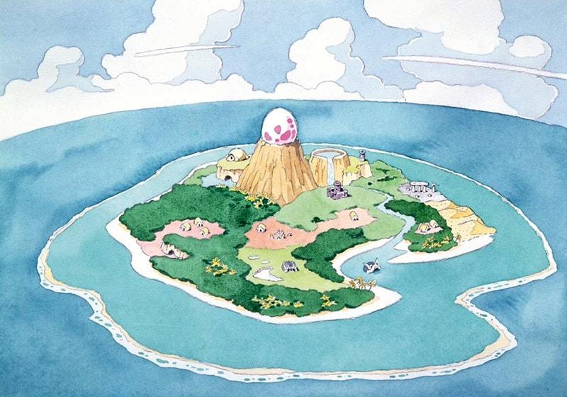 Arte conceitual de Koholint Island.