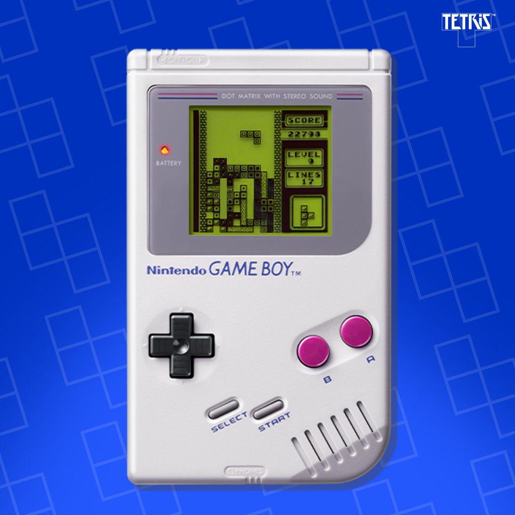 Jogo do Tetris no Game Boy
