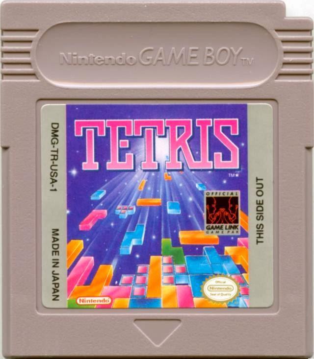 Carticho do jogo Tetris para o Game Boy